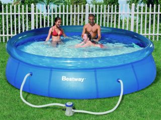 Bestway 8 Foot by 26 Fast Set Round Swimming Pool Set