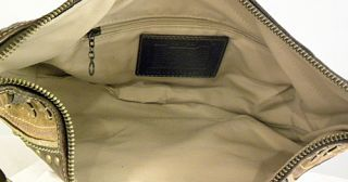 Authentic Coach Bag Purse 10477 Limited Edition Brown PEBBLED Leather