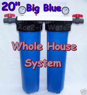 Big Blue Dual 20 Whole House Water Ro System w Filters