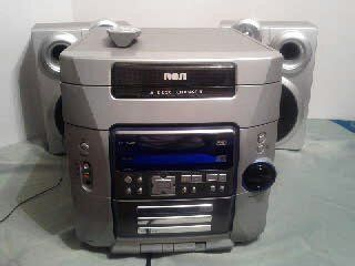 RCA Sound System Tape Player 5 CD Changer Radio 2 Speaker