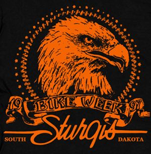 Bike Week Sturgis T Shirt Black Hills Motorcycle Indian South Dakota
