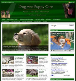 Established DOG & PUPPY CARE Website For Sale .(Websites by
