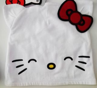 Hello Kitty Face White Bennie Red Bow