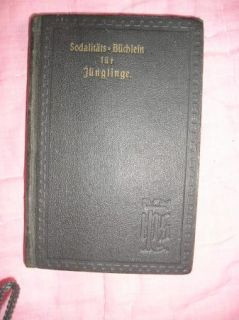 Vtg Antique 1908 German Marianist Young Mens Sodality Prayer Book