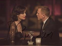DANIEL CRAIG BERENICE MARLOHE 007 JAMES BOND DOUBLE SIGNED AUTOGRAPH