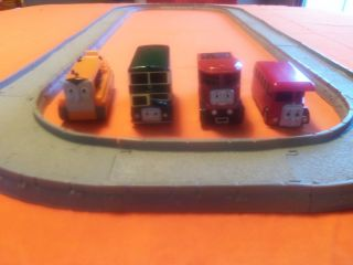 Train Trackmaster Set Terence,Bertie,Tomy,& Bulgy with 12 piece track
