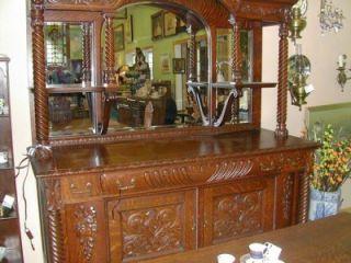 berkey gay tiger oak buffet with carved ram head