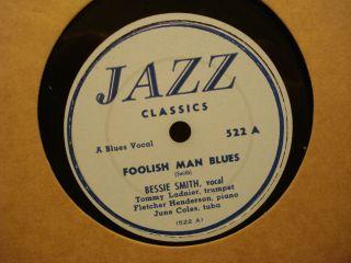 78 Bessie Smith Foolish Man Blues Year Jazz Classics 522 VG
