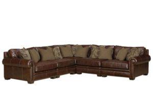 Bernhardt Grandview Leather Sectional Sofa
