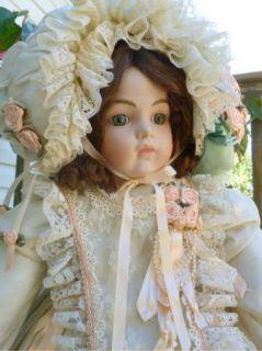 LOVELESS Bru JNE 13 Reproduction Bisque Doll Bernadette 26 A/O Sgnd