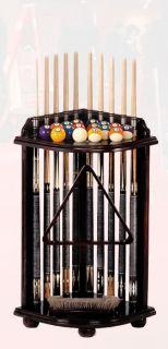 Billiard Pool Ball Cue Rack Corner Style 4 Colors