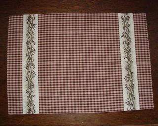 Berry Vine Placemat Country Burgundy Table Linens