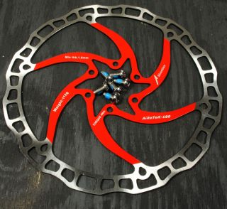 Ashima Airotor Mountain Bike Disc Brake Rotor MTB 180mm 180 mm Red