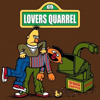 Bert and Ernie Lovers Quarrel Funny Offensive T Shirt