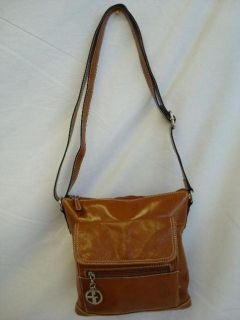 Giani Bernini Glazed Leather Crossbody Bag Small Handbags Tan Womens