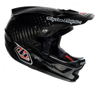 Lee Designs D3 Carbon Fiber CF Bicycle Helmets Pinstripe Black Small S