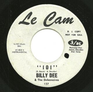 Surf Billy Dee The Debonaires 101 Pacific Coast Hwy 45 La Cam Instro