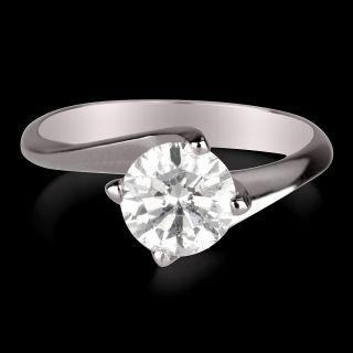ct d si diamond engagement ring white gold 14k