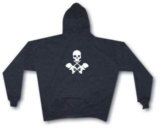 Crossed Paintball Guns with Skull Hoodie sweat Shirt