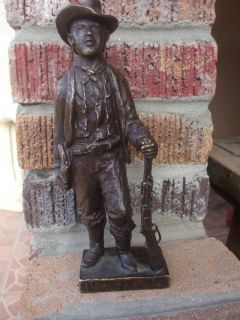 Antique Old Rare Signed Billy The Kid Bronze Statue Sculpture 1927 10