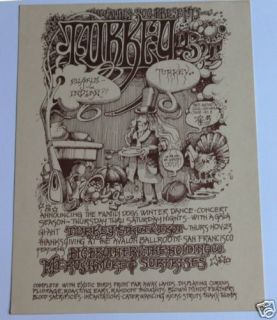1967 AOR219 Big Brother Family Dog Psychedelic Handbill