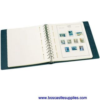 Lighthouse Stamp Album Excellent de Binder 13 Ring Blue