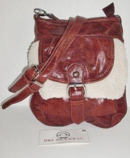 Big Buddha Fargo Burgundy Red Leather Like Cross Body Handbag