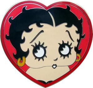 Original Licensed Betty Boop Heart Quality Belt Buckle