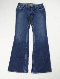 Big Star Dark Maddie Boot Cut Stretch Jeans Size 32  JN967SB