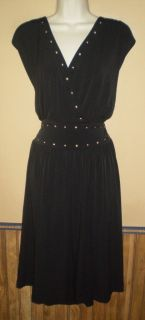 Beverly Drive black pullover stretch career cocktail dress 24 26W NWT