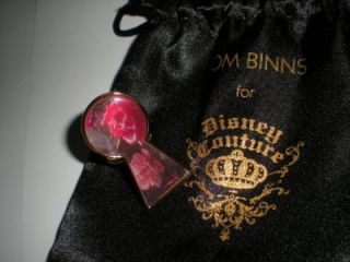 Disney Couture Tom Binns Alice in Wonderland Talking Rose Ring Sz 7