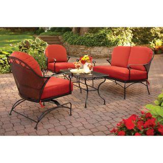 home garden furniture clayton 4 piece outdoor patio conversation set