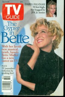 1993 TV Guide Bette Midler Gypsy Daryl Hannah Bugged