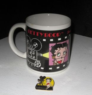 Betty Boop 2 Lot Stars at the MGM Grand 1992 Coffee Mug Hollywood Pin