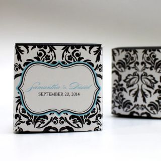 20 Love Bird Damask Printed Favor Boxes Wedding Favors