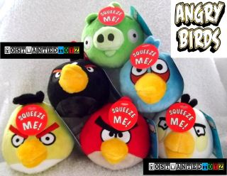 Set 6 Rovio Angry Birds Talking Plush Toys Due December Xmas