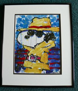 TOM EVERHART PEANUTS SNOOPY BEVERLY HILLS FRAMED PROMO PRINT CHARLES