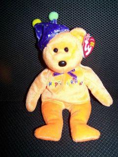 Ty Beanie Babies Happy Birthday Bear Stuffed Plush 2005