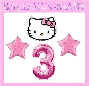 hello kitty third birthday 3rd three party supplies decorations pink
