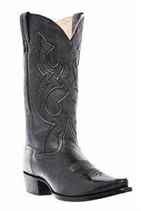 New Dan Post Mens Bexar Cowboy Leather Snip Toe Black Boots 13 D