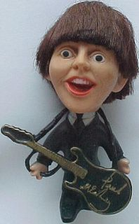 Beatles Paul McCartney Vintage Soft Body Remco Doll with Guitar