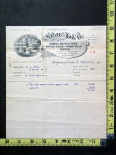 1909 Illustrated Bill / Billhead Nelson & Hall Co. Montgomery Center