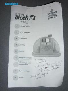 Bissell Little Green Shampoo Machine/Multi Purpose Compact Deep