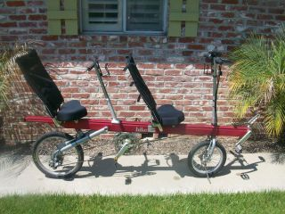 BIKE E RECUMBENT TANDEM BICYCLE BIKE 27 SPEED VERY NICE GENTLY USED