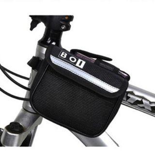 Frame Pannier Mountain Bike Saddle Bicycle Front Tube Bag Black