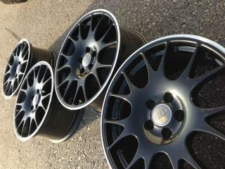 AUDI S4 RS4 OEM FACTORY STOCK 18 BBS BLACK WHEELS RIMS 5X112 a4 5x112