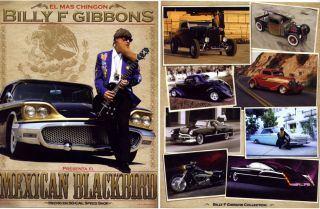 BILLY GIBBONS CUSTOM CAR POSTER & ZZ TOP GUITAR PICK KING BEE SOCIAL
