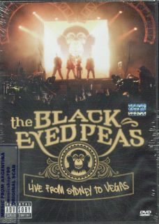 THE BLACK EYED PEAS, LIVE FROM SIDNEY TO VEGAS. FACTORY SEALED DVD. IN