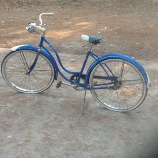 Schwinn 1950s Old Blue Vintage Ladies Catalina Bicycle Bike Needs Care