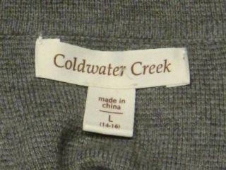 Coldwater Creek Size L 14 16 Gray Cowl Neck Sweater Dress Soft Blend
